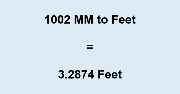 1002 MM to Feet