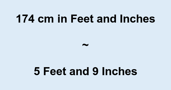 Cm to inches height