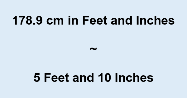 what is 5 foot 9 in centimeters