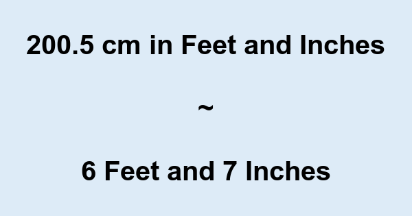 2005 Cm In Feet And Inches