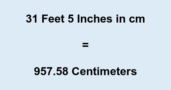 31 Inches to Centimeters Conversion Inches to Centimeters - Distance and Length - Conversion. You are currently converting Distance and Length units from Inches to Centimeters. 31 Inches (in) = Centimeters (cm) Inches: An inch (symbol: in) is a unit of length. It .