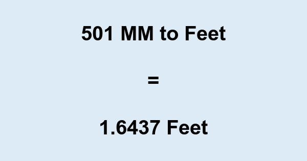 501 MM to Feet