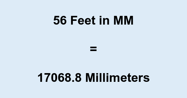 56 Ft in MM