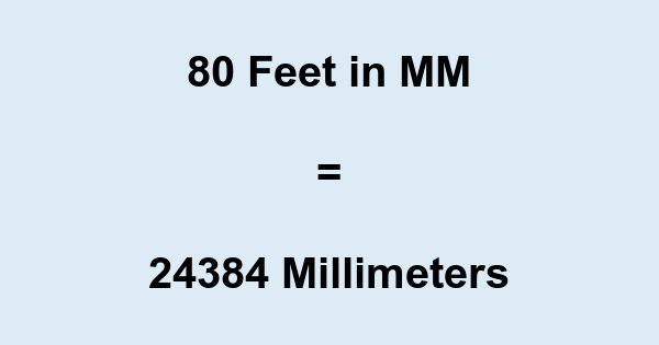 80 Ft in MM