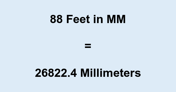 88 Ft in MM
