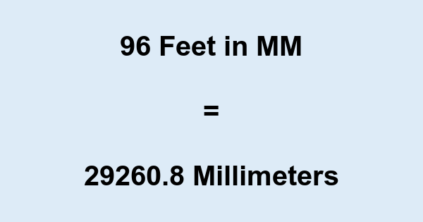 96 Ft in MM