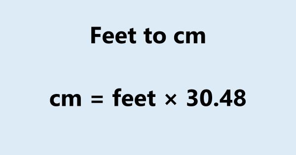 Feet to cm